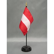 4x6in Mounted Austria Flag