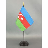 4x6in Mounted Azerbaijan Flag