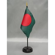 4x6in Mounted Bangladesh Flag