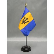 4x6in Mounted Barbados Flag