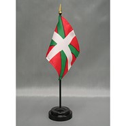 4x6in Mounted Basque Lands Flag