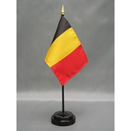 4x6in Mounted Belgium Flag