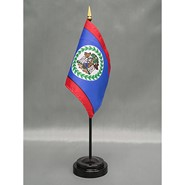 4x6in Mounted Belize Flag
