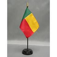 4x6in Mounted Benin Flag