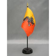 4x6in Mounted Bhutan Flag