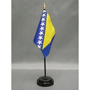 4x6in Mounted Bosnia-Herzegovina Flag
