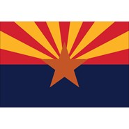 4x6in Mounted Arizona Flag