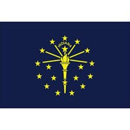 4x6in Mounted Indiana Flag