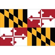 4x6in Mounted Maryland Flag