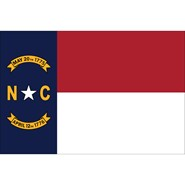 4x6in Mounted North Carolina Flag