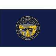 4x6in Mounted Nebraska Flag