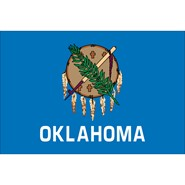 4x6in Mounted Oklahoma Flag