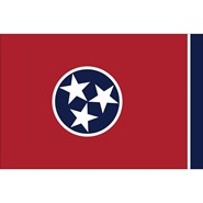 4x6in Mounted Tennessee Flag