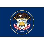 4x6in Mounted Utah Flag
