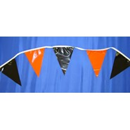 Orange and Black String Pennants
