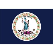 Virginia State Polyester Flag
