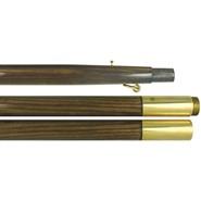 7ft Oak Finished Pole Brass