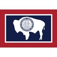 Wyoming State Nylon Flag