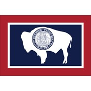 Wyoming State Polyester Flag