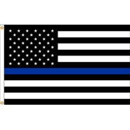 Thin Blue Line U.S. 3x5' Flag 2