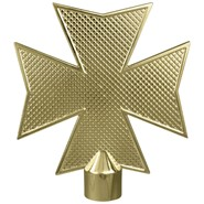Metal Maltese Cross with Ferrule