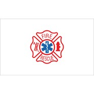 Fire Rescue 3x5ft Flag