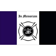 Fireman Mourning 3x5ft Flag
