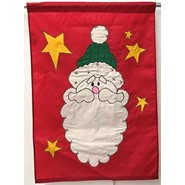 Country Santa 28x40in Applique Banner