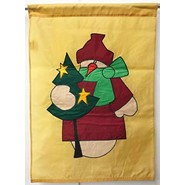 Country Snowman 28x40in Applique Banner