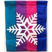 Snowflake Rainbow 28x40in Applique Banner