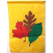 Autumn Leaves 28x40in Applique Banner