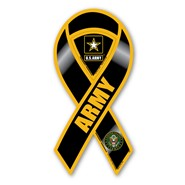 Army Black & Yellow Magnet