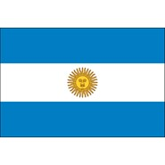 Argentina with Seal Nylon Flag