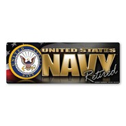 Navy Retired Magnet