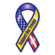 Support Our Troops RWB Magnet