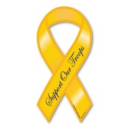 Support Our Troops Yellow Magnet