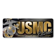 USMC Retired Mini Magnet