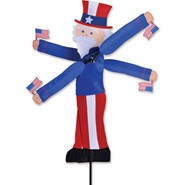 Uncle Sam Whirligig 29in
