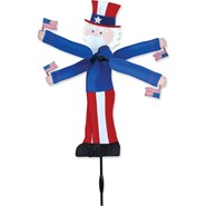 Uncle Sam Whirligig 20in