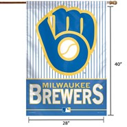 "Milwaukee Brewers Retro 28""x40"" Banner"