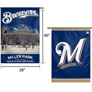 "Brewers Miller Park 2 Sided 28""x40"" Banner"