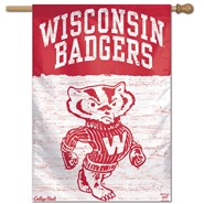 "Wisconsin Univ Bucky Badger 28""x40"" Banner"