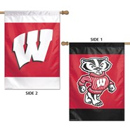 "Wisconsin Univ 2 Sided Bucky and W 28""x40"" Banner"