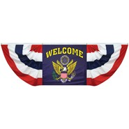 Welcome Eagle Seal Fan Drapes