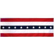 3x8ft Nylon Sewn Stripes Patriotic Flat
