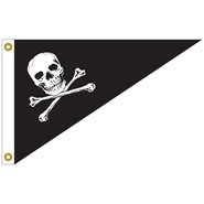 Jolly Roger Bow Pennant