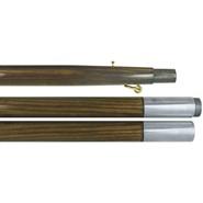7 Foot Oak Finished Pole Chrome