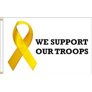 Support Our Troops Ribbon 3x5ft Flag