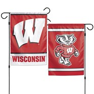 "Badgers 2-Sided 12.5""x18"" Garden Flag"