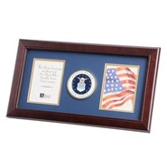 "Air Force Medallion Double 4x6"" Photo 10x18"" Frame"